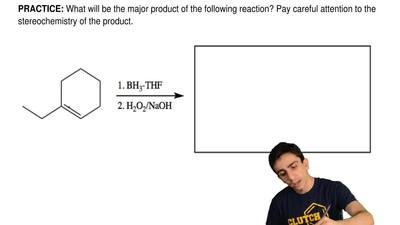 What will be the major product of the following reaction? Pay careful attentio...