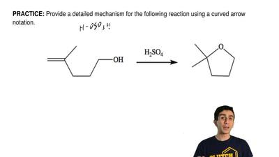 Provide a detailed mechanism for the following reaction using a curved arrow n...