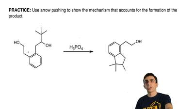 Use arrow pushing to show the mechanism that accounts for the formation of the...