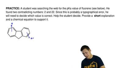 A student was searching the web for the pKa value of fluorene (see below). He ...