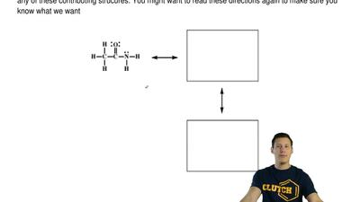 Amides are best represented as the hybrid of three contributing structures. Dr...