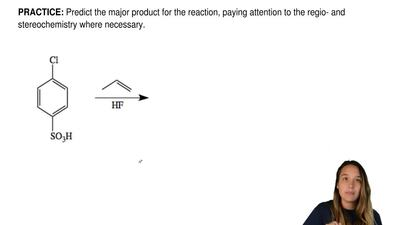 Predict the major product for the reaction, paying attention to the regio- and...