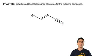 Draw two additional resonance structures for the following compound. ...