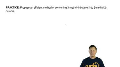 Propose an efficient method of converting 3-methyl-1-butanol into 3-methyl-2-b...