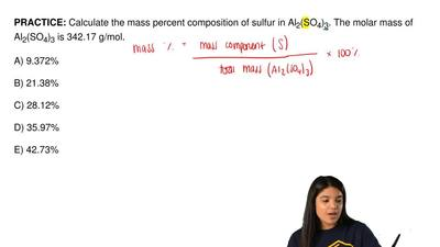 Calculate the mass percent composition of sulfur in Al 2(SO4)3. The molar mass...