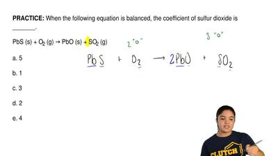 When the following equation is balanced, the coefficient of sulfurdioxide is ...