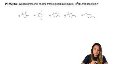 Which compound  shows  three signals (all singlets) in 1H NMR spectrum? ...