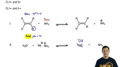 Predict the favorable direction of the two following acid base equilibria:  A)...