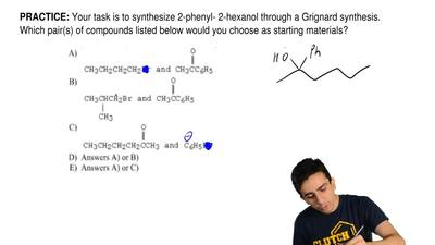 Your task is to synthesize 2-phenyl- 2-hexanol through a Grignard synthesis. W...