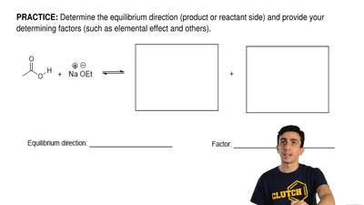 Determine the equilibrium direction (product or reactant side) and provide you...