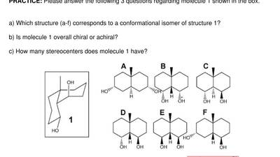 Please answer the following 3 questions regarding molecule 1 shown in the box....
