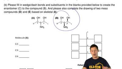 As shown below, compound (B) is one of the configurational isomers of (A).  (a...