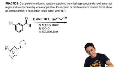 Complete the following reactionsupplying the missingproductand showing corr...
