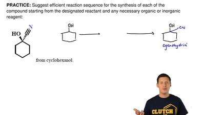 Suggest efficient reaction sequence for the synthesis of each of the compound ...