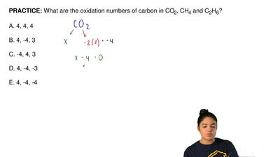 What are the oxidation numbers of carbon in CO 2, CH4 and C2H6?  A. 4, 4, 4  B...