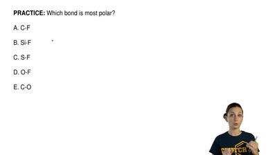 Which bond is most polar?  A. C-F  B. Si-F  C. S-F  D. O-F  E. C-O ...