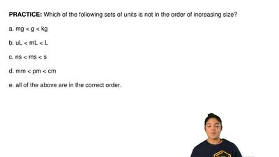 Which of the following sets of units is not in the order of increasing size?  ...