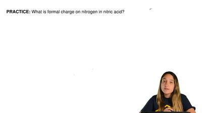 What is formal charge on nitrogen in nitric acid?    ...