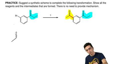 Suggest a synthetic scheme to complete the following transformation. Show all ...