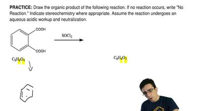Draw the organic product of the following reaction. If no reaction occurs, wri...