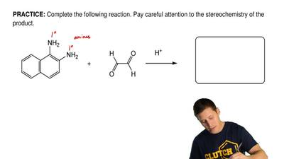 Complete the following reaction. Pay careful attention to the stereochemistry ...