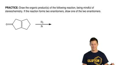 Draw the organic product(s) of the following reaction, being mindful of stereo...