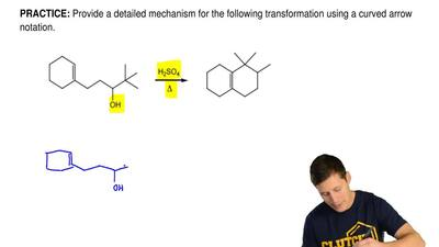 Provide a detailed mechanism for the following transformation using a curved a...