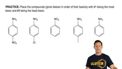 Place the compounds (given below) in order of their basicity with #1 being the...