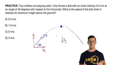 Two children are playing catch. One throws a ball with an initial velocity of ...