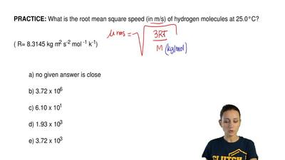 What is the root mean square speed (in m/s) of hydrogen molecules at 25.0°C?  ...