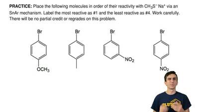 Place the following molecules in order of their reactivity with CH3S–Na+ via ...