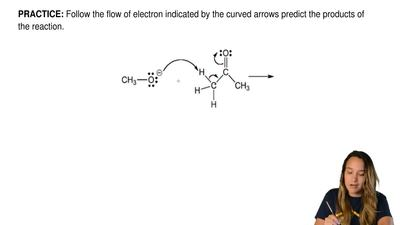 Follow the flow of electron indicated by the curved arrows predict the product...