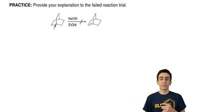Provide your explanation to the failed reaction trial. ...
