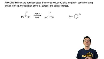 Draw the transition state. Be sure to include relative lengths of bonds breaki...