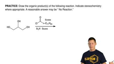Draw the organic product(s) of the following reaction. Indicate stereochemistr...