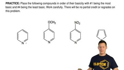 Place the following compounds in order of their basicity with #1 being the mos...
