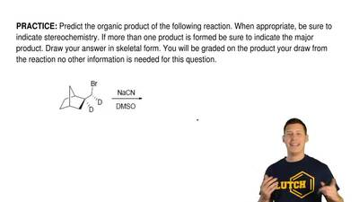 Predict the organic productof the following reaction. When appropriate, be su...