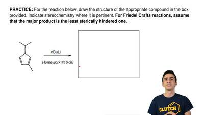 For the reaction below, draw the structure of the appropriate compound in the ...