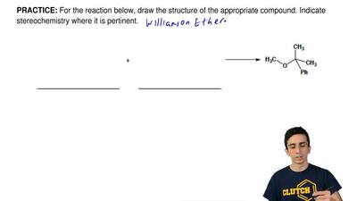 For the reaction below, draw the structure of the appropriate compound. Indica...