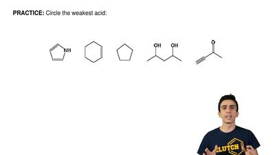 Circle the weakest acid:    ...