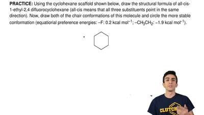 Using the cyclohexane scaffold shown below, draw the structural formula of all...
