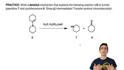 Write a detailed mechanism that explains the following reaction of 6 to furnis...