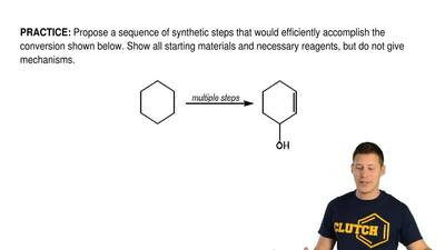 Propose a sequence of synthetic steps that would efficiently accomplish the co...