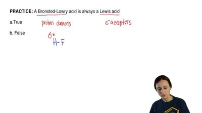 A Bronsted-Lowry acid is always a Lewis acid  a.True  b. False ...