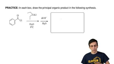 In each box, draw the principal organic product in the following synthesis. ...