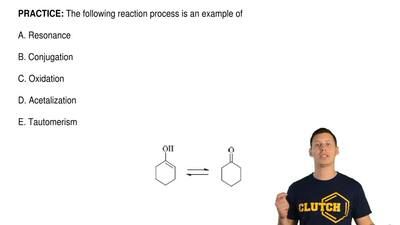 The following reaction process is an example of  A. Resonance  B. Conjugation ...