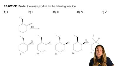 Predict the major product for the following reaction  A) I                    ...