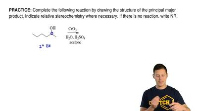 Complete the following reaction by drawing the structure of the principal majo...