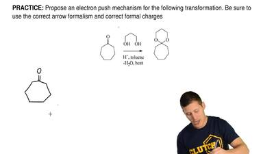 Propose an electron push mechanism for the following transformation. Be sure t...