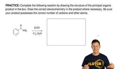 Complete the following reactionby drawing the structure of the principal orga...